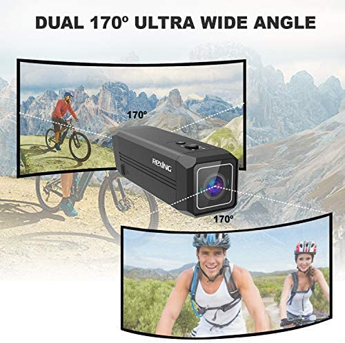 51LWSD1ZXYL. AC  - REXING A1 Two Way 2.7K Action Camera Front & Back 1080p@30fps w/WiFi/Wide Angle/Wrist Remote Control/Waterproof Extreme Sports Camcorder for Motorcycles/Bicycle/Sport Bike/Hiking/Cars