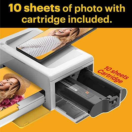 """51NZ4pPeGTL. AC  - Kodak Dock Plus 4x6"""" Portable Instant Photo Printer, Compatible with iOS, Android and Bluetooth Devices Full Color Real Photo, 4Pass & Lamination Process, Premium Quality - Convenient and Practical"""