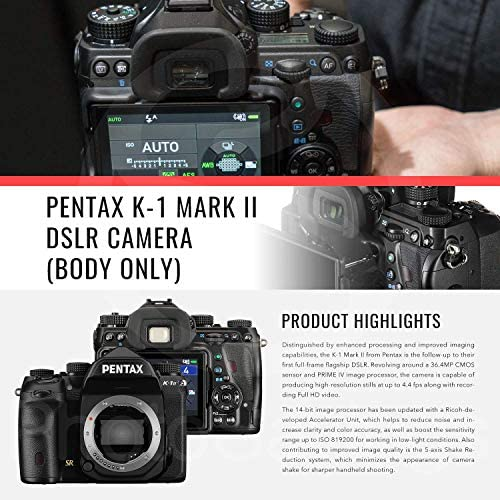 51PxOFG7KkL. AC  - Pentax K-1 Mark II Full Frame Weather Resistant DSLR Camera (Body Only) with 32GB Card & Deluxe Photo Cleaning Kit Bundle