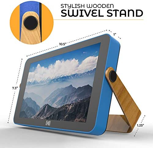 51QR2rUxWIL. AC  - Kodak 10-Inch Smart Touch Screen Rechargeable Digital Picture Frame, Wi-Fi Enabled with HD Photo Display and Music/Video Support, Calendar, Weather and Location Updates (RWF-108) - Ocean Blue