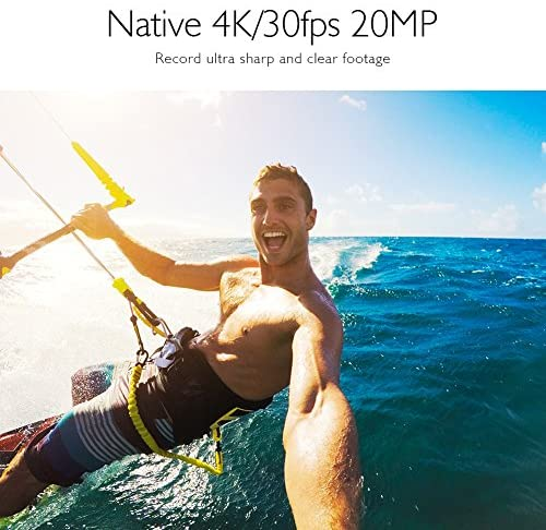 51ROFT08J0L. AC  - AKASO V50 Pro Native 4K30fps 20MP WiFi Action Camera with EIS Touch Screen 100 feet Waterproof Camera Web Camera Support External Mic Remote Control Sports Camera with Helmet Accessories Kit