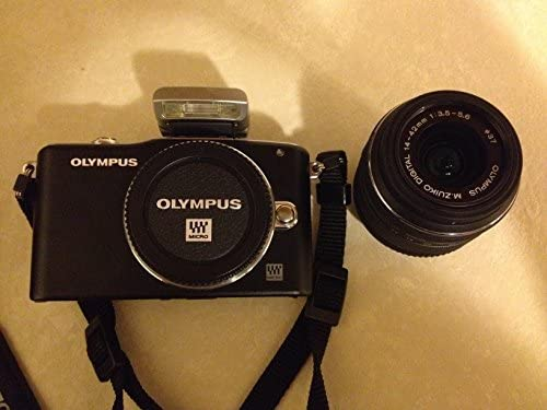 51SMNc6KuGL. AC  - Olympus PEN E-PM1 12.3MP Interchangeable Camera with CMOS Sensor, 3-inch LCD and 14-42mm II Lens (Black) (Old Model)