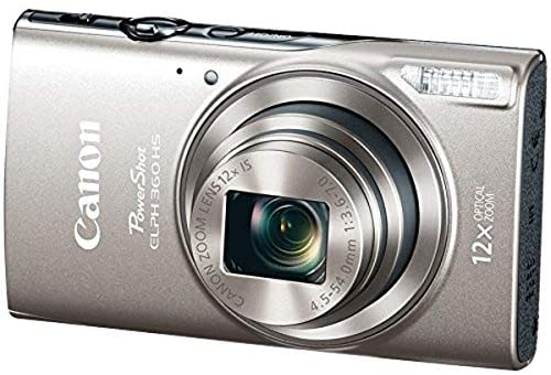 51Wc7ahLCTL. AC  - Canon PowerShot ELPH 360 Digital Camera w/ 12x Optical Zoom and Image Stabilization - Wi-Fi & NFC Enabled (Silver)