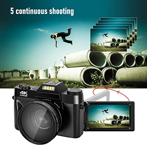 51YU+or+utL. AC  - 4K Digital Camera 48MP Camera Vlogging Camera for YouTube 30FPS Video Camera 16X Digital Zoom Camera with Flip Screen Camera (Fixed Focus&Without Micro sd Card)