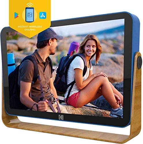 51ZNKKfnluL. AC  - Kodak 10-Inch Smart Touch Screen Rechargeable Digital Picture Frame, Wi-Fi Enabled with HD Photo Display and Music/Video Support, Calendar, Weather and Location Updates (RWF-108) - Ocean Blue