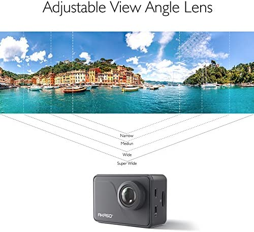 51b1ZGUN0dL. AC  - AKASO V50 Pro Native 4K30fps 20MP WiFi Action Camera with EIS Touch Screen 100 feet Waterproof Camera Web Camera Support External Mic Remote Control Sports Camera with Helmet Accessories Kit