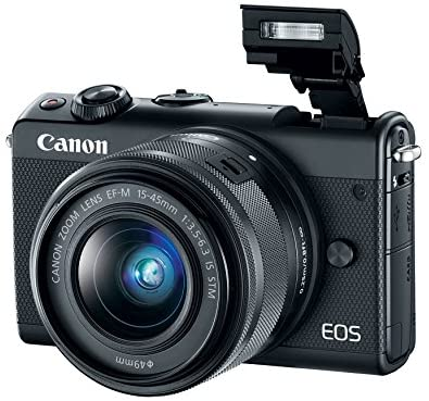 51hSI JF+dL. AC  - Canon EOS M100 Mirrorless Camera w/ 15-45mm Lens - Wi-Fi, Bluetooth, and NFC enabled (Black)