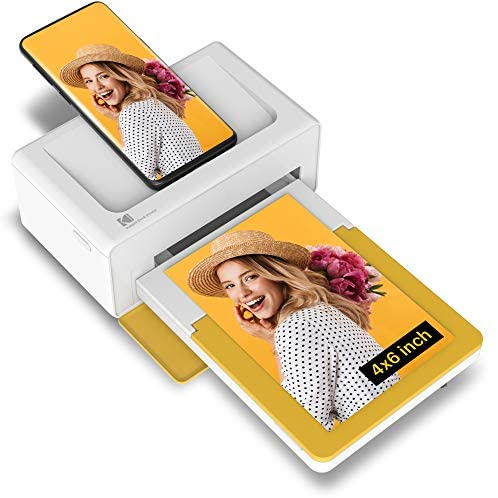 """51iXGKndq5L. AC  - Kodak Dock Plus 4x6"""" Portable Instant Photo Printer, Compatible with iOS, Android and Bluetooth Devices Full Color Real Photo, 4Pass & Lamination Process, Premium Quality - Convenient and Practical"""