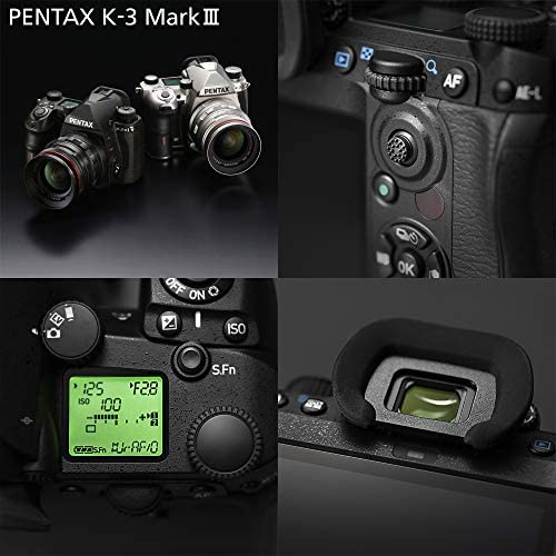 51kFvQ2a9vL. AC  - Pentax K-3 Mark III Flagship APS-C Black Camera Body - 12fps, Touch Screen LCD, Weather Resistant Magnesium Alloy Body with in-Body 5-Axis Shake Reduction. 1.05x Optical viewfinder with 100% FOV
