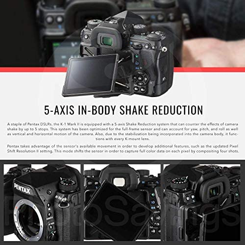 51m7PPMyfYL. AC  - Pentax K-1 Mark II Full Frame Weather Resistant DSLR Camera (Body Only) with 32GB Card & Deluxe Photo Cleaning Kit Bundle