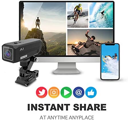 51nVFjVz2dL. AC  - REXING A1 Two Way 2.7K Action Camera Front & Back 1080p@30fps w/WiFi/Wide Angle/Wrist Remote Control/Waterproof Extreme Sports Camcorder for Motorcycles/Bicycle/Sport Bike/Hiking/Cars