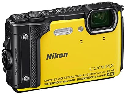 51nhrUQEVCL. AC  - Nikon Coolpix W300 Point & Shoot Camera, Yellow - Bundle with 16GB SDHC Card, Camera Case, Cleaning Kit, PC Software Package