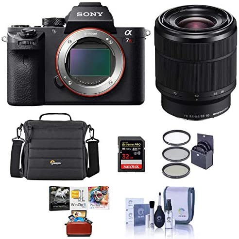 51qY7BcG 2L. AC  - Sony a7R II Alpha Full Frame Mirrorless Camera with FE 28-70mm f/3.5-5.6 OSS Lens - Bundle with Camera Case, 128GB SDXC U3 Memory Card, 55mm Filter Kit, Memory Wallet, Cleaning Kit, Mac Softwate Pack