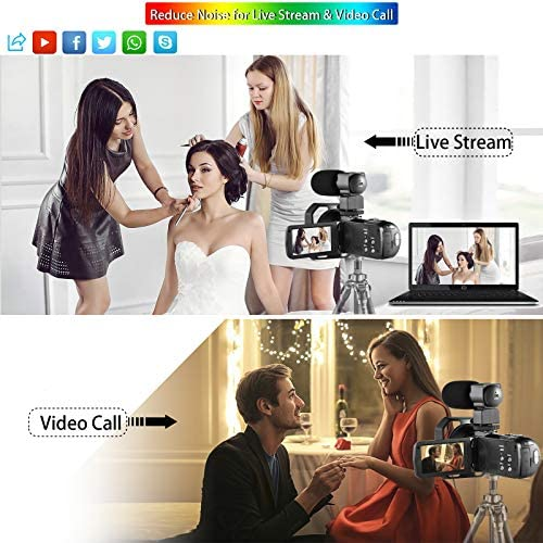 51rf7fs1LlL. AC  - OIEXI Video Camera 4K Camcorder Vlog Camera for YouTube, HD Digital Camera with 16X Digital Zoom and Night Vision, Video Recorder with Microphone (32GB SD Card, 2 Batteries Included