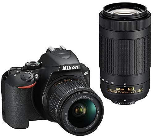 51u1yZRQYZL. AC  - Nikon D3500 24.2MP DSLR Camera with AF-P 18-55mm VR Lens & 70-300mm Dual Zoom Lens Kit Bundle with Camera Bag, Wide Angle Lens, Telephoto Lens, Filter Sets, 32GB Memory Card and Accessories