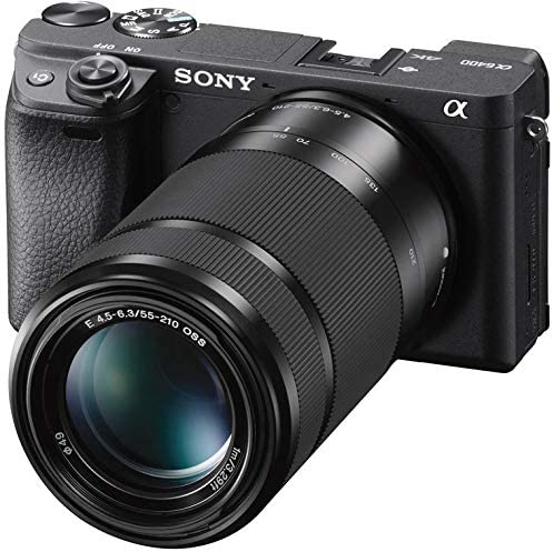 51u3XUXRtQL. AC  - Sony a6400 4K Mirrorless Camera ILCE-6400L/B (Black) with 16-50mm f/3.5-5.6 and 55-210mm F4.5-6.3 2 Lens Kit and 0.43x Wide Angle + 2.2X Telephoto + Deco Gear Extra Battery Remote & Flash Bundle
