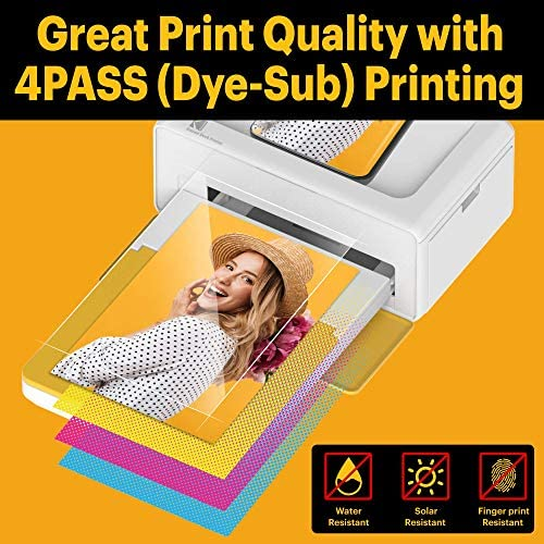 """51y3NsWV1PL. AC  - Kodak Dock Plus 4x6"""" Portable Instant Photo Printer, Compatible with iOS, Android and Bluetooth Devices Full Color Real Photo, 4Pass & Lamination Process, Premium Quality - Convenient and Practical"""