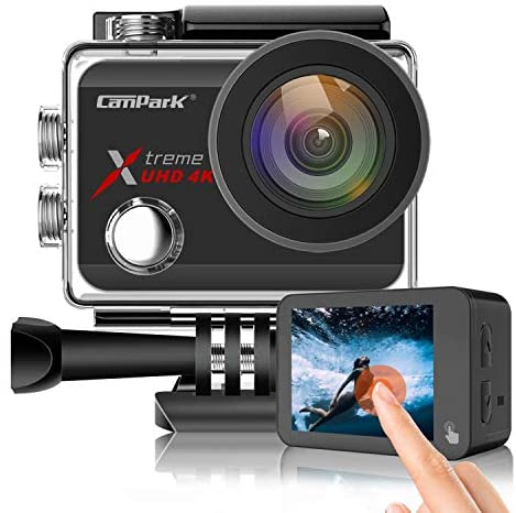 51z0WuH22jL. AC  - Campark X30 Action Camera Native 4K 60fps 20MP WiFi with EIS Touch Screen Waterproof Camera 40M, 2x1350mAh Batteries and Professional Accessories