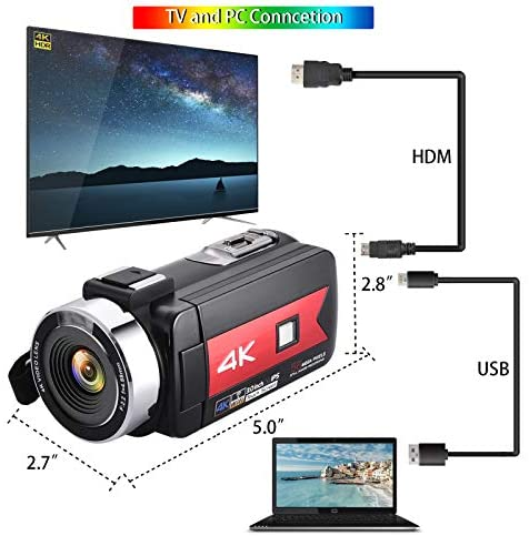 51zyYFwPqrL. AC  - OIEXI Video Camera 4K Camcorder Vlog Camera for YouTube, HD Digital Camera with 16X Digital Zoom and Night Vision, Video Recorder with Microphone (32GB SD Card, 2 Batteries Included