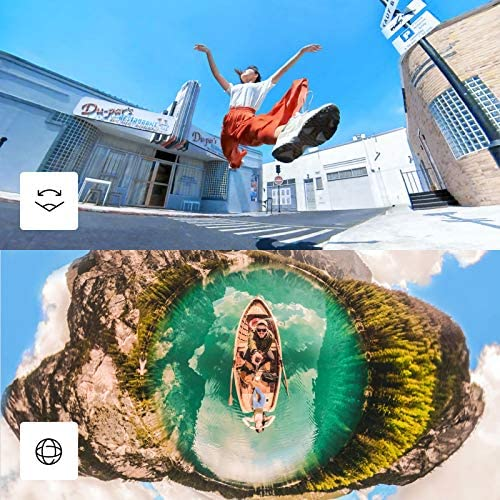 61JpBlgeaYL. AC  - Insta360 ONE X2 360 Degree Waterproof Action Camera, 5.7K 360, Stabilization, Touch Screen, AI Editing, Live Streaming, Webcam, Voice Control