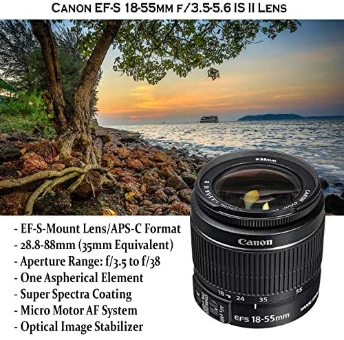 61SSMPewyKL. AC  - Canon EOS Rebel T7 DSLR Camera with 18-55mm is II Lens Bundle + Canon EF 75-300mm f/4-5.6 III Lens and 500mm Preset Lens + 32GB Memory + Filters + Monopod + Professional Bundle (Renewed)