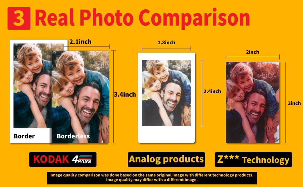 """6e88a8a8 2c45 4414 9b17 c482dbca4409.  CR0,0,970,600 PT0 SX970 V1    - Kodak Mini 2 Retro 2.1x3.4"""" Portable Photo Printer (60 Sheets), Wireless Connection, Compatible with iOS, Android & Bluetooth, Real Photo, 4PASS & Lamination Process, Premium Quality- Black"""