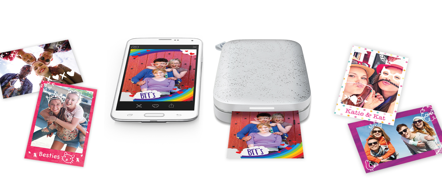 """7c6513bd f4ee 4faa 813d 57d874c8f5ae. CR0,0,1464,600 PT0 SX1464   - HP Sprocket Portable 2x3"""" Instant Photo Printer (Luna Pearl) Print Pictures on Zink Sticky-Backed Paper From Your iOS & Android Device"""