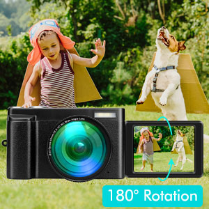 """c4765a96 b5c9 4fec a066 74b0e21501fc.  CR0,0,300,300 PT0 SX300 V1    - Lecran Digital Camera, Video Camera FHD 1080P 30FPS 24MP Video Camcorder, YouTube Vlogging Camera with IR Night Vision, 2.88"""" Flip Screen, Speedlite Flash and Wide Angle Lens"""