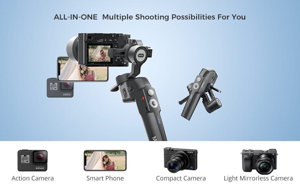 cd0aa383 afe7 4020 ba33 cfe10ca0cd5c.  CR0,0,970,600 PT0 SX970 V1    - MOZA Mini P Gimbal Stabilizer Handheld 3 Axis Gimbal 4-in-1 for Mirrorless&Compact Camera for iPhone Android Smartphone for Action Camera GoPro up to 1.98Lb Payload
