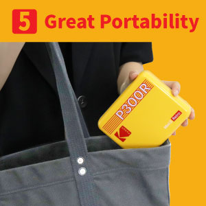 """d02200b9 ed01 412e 953d e5af0e81fbab.  CR0,0,300,300 PT0 SX300 V1    - Kodak Mini 3 Retro 3x3"""" Portable Photo Printer, Compatible with iOS, Android & Bluetooth Devices, Real Photo: 4Pass Technology & Laminating Process, Print Photos - Black"""