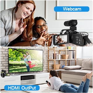 d0b713d9 047a 4c1f abee 3abea17bff55.  CR0,0,300,300 PT0 SX300 V1    - 4K Camcorder 48MP 18X Digital Camera WiFi IR Night Vision Video Camera for YouTube 3.0inch HD Touch Screen Vlogging Camera with External Microphone, Stabilizer and Remote Control