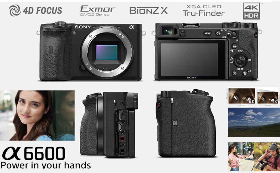 e2c15d1d ed50 4116 af0e c16de301deee.  CR0,0,970,600 PT0 SX970 V1    - Sony a6600 Mirrorless Camera 4K APS-C ILCE-6600B with 55-210mm F4.5-6.3 OSS Lens Kit SEL55210 Bundle with Deco Gear Case + Extra Battery + Flash + Photo Video Software + 64GB Card and Accessories