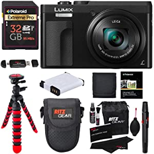 """i1r7wd0ROw. UX300 TTW   - Panasonic DC-ZS70K Lumix 20.3 Megapixel, 4K Digital Camera, Touch Enabled 3"""" 180 Degree Flip-Front Display, 30x Leica DC Vario-Elmar Lens, Wi-Fi with 3"""" LCD, Black, 32GB Memory and Accessory Bundle"""