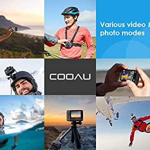 18b672e0 2bdf 466c 9b9e eb956535bfd8.  CR185,0,600,600 PT0 SX300 V1    - COOAU Native 4K 60fps 20MP Touch Screen WiFi Action Sport Camera EIS Stabilization Underwater Waterproof Cam with External Microphone Remote Control 2x1350Amh Batteries