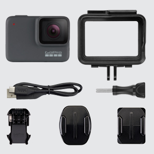 2294120f 6859 47c4 afe2 32b630a23066. CR0,0,300,300 PT0 SX300   - GoPro HERO7 Silver — Waterproof Digital Action Camera with Touch Screen 4K HD Video with Head Strap + QuickClip