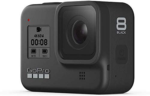 315O5Knne3L. AC  - GoPro HERO8 Black Waterproof Action Camera with Touch Screen 4K Ultra HD Video 12MP Photos 1080p Live with Accessoy Bundle + 2 Extra GoPro USA Batteries Total 3 + Sandisk 64GB MicroSD U3 + Ritz Reader