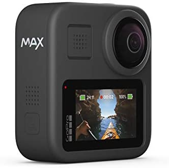 316BmEH3qOL. AC  - GoPro MAX — Waterproof 360 + Traditional Camera with Touch Screen Spherical 5.6K30 HD Video 16.6MP 360 Photos 1080p Live Streaming Stabilization