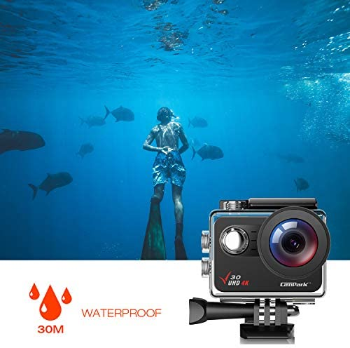 41+l x5CtqL. AC  - Campark V30 Native 4K Action Camera 20MP EIS Touch Screen WiFi Waterproof PC Webcam with Optional View Angle, 2 1350mAh Batteries and Mounting Accessories Kit