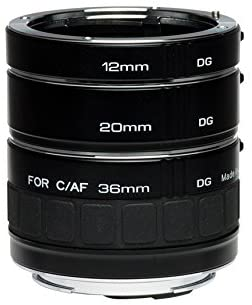 411Fk2sfAxL. AC  - Kenko Auto Extension Tube Set DG 12mm, 20mm, and 36mm Tubes for Nikon AF Digital and Film Cameras - AEXRUBEDGN