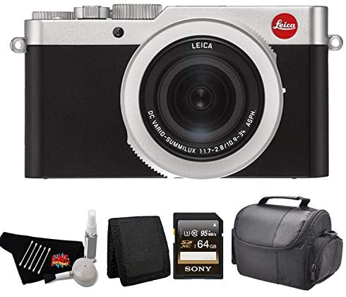 412FTE1RpOL. AC  - Leica D-Lux 7 Point and Shoot Digital Camera 19116 Kit with 64GB Memory Card + More
