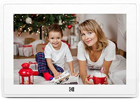 41CHj HzXqL. AC  - Kodak 10-Inch Touch Screen Digital Picture Frame, Wi-Fi Enabled with 16GB of internal memory, HD Photo Display and Music/Video Support Plus Clock, Calendar, Weather and Location Updates - Whilte