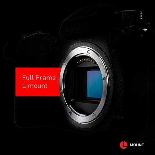 """41G+hvGT8pL. AC  - Panasonic LUMIX S1R Full Frame Mirrorless Camera with 47.3MP MOS High Resolution Sensor, L-Mount Lens Compatible, 4K HDR Video and 3.2"""" LCD - DC-S1RBODY"""