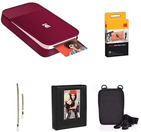 41IN8gmTYqL. AC  - KODAK Smile Instant Digital Printer (Red) with Extra Paper, Album, Case, Colorful Neck/Hand Strap