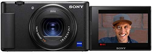 41RIRSSuyIL. AC  - Sony ZV-1 Compact Digital 4K Camera Vlogger Creator's Kit ACCVC1 Includes GP-VPT2BT Shooting Grip with Wireless Remote Commander + 64GB Card DCZV1/B Bundle Deco Gear Case + LED Light and Accessories