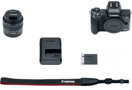 """41T170+LlPL. AC  - Canon EOS M50 Mirrorless Digital Camera (Black) with 15-45mm STM Lens + Deluxe Accessory Bundle Including Sandisk 32GB Card, Canon Case, Flash, Grip Multi Angle Tripod, 50"""" Tripod, Filters and More."""