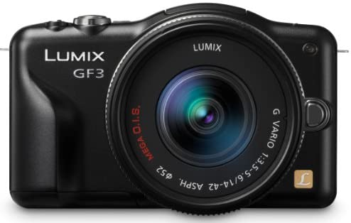 41a9QjftKWL. AC  - Panasonic Lumix DMC-GF3KK 12 MP Micro 4/3 Mirrorless Digital Camera with 3-Inch Touchscreen LCD and 14-42mm Zoom Lens (Black) (Discontinued by Manufacturer)