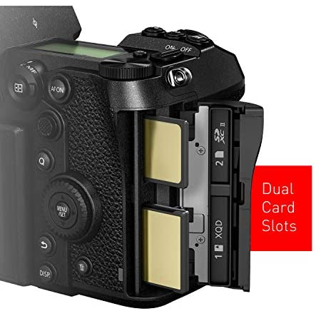 """41eWHwkpf6L. AC  - Panasonic LUMIX S1R Full Frame Mirrorless Camera with 47.3MP MOS High Resolution Sensor, L-Mount Lens Compatible, 4K HDR Video and 3.2"""" LCD - DC-S1RBODY"""