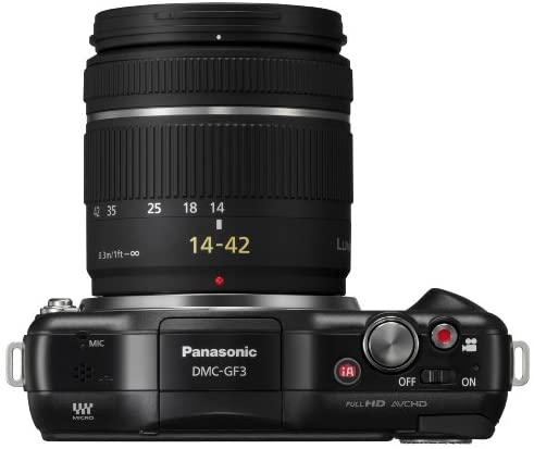 41g8sW33MsL. AC  - Panasonic Lumix DMC-GF3KK 12 MP Micro 4/3 Mirrorless Digital Camera with 3-Inch Touchscreen LCD and 14-42mm Zoom Lens (Black) (Discontinued by Manufacturer)