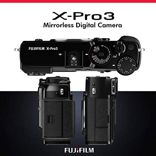 41oxOcgRbYL. AC  - FUJIFILM X-Pro3 Mirrorless Digital Camera (Black) + Camera Bag, 64GB Memory Card, Xpix Memory Card Case, Xpix Camera Shoulder Strap with Quick Release & Xpix Deluxe Cleaning Accessories