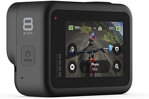 41q5MSUKt6L. AC  - GoPro HERO8 Black Waterproof Action Camera with Touch Screen 4K Ultra HD Video 12MP Photos 1080p Live with Accessoy Bundle + 2 Extra GoPro USA Batteries Total 3 + Sandisk 64GB MicroSD U3 + Ritz Reader